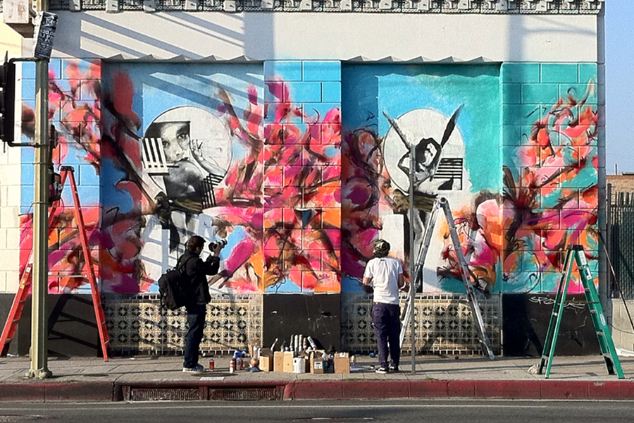 Jaybo Monk and Poesia Mural Los Angeles